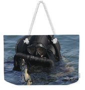 A Navy Seal Combat Swimmer Weekender Tote Bag by Michael Wood