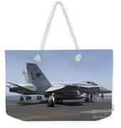 An Fa-18c Hornet During Flight Weekender Tote Bag