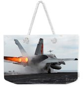 An Fa-18c Hornet Launches Weekender Tote Bag by Stocktrek Images