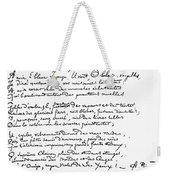 Arthur Rimbaud (1854-1891) Weekender Tote Bag