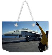 Aviation Boatswains Mate Directs Weekender Tote Bag by Stocktrek Images