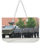Belgian Infantry Soldiers Training Weekender Tote Bag