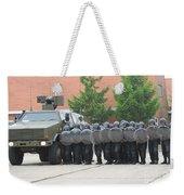 Belgian Infantry Soldiers Training Weekender Tote Bag by Luc De Jaeger