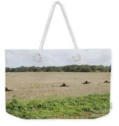 Belgian Paratroopers On Guard Weekender Tote Bag by Luc De Jaeger