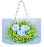 Blue Easter Eggs  Weekender Tote Bag by Elena Elisseeva