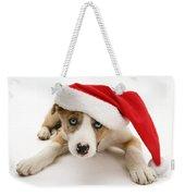 Border Collie Puppy Weekender Tote Bag