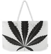 Cannabis Sativa, Marijuana Leaf Weekender Tote Bag