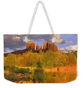 Cathedral Rock Reflected In Oak Creek Weekender Tote Bag