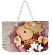 Christmas Gingerbread Weekender Tote Bag