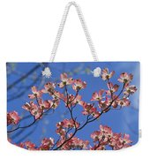 Close View Of Pink Dogwood Blossoms Weekender Tote Bag