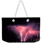 Cloud-to-ground Lightning Weekender Tote Bag