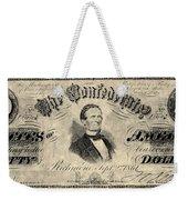 Confederate Banknote Weekender Tote Bag