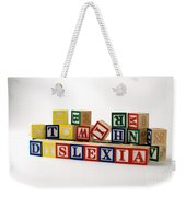Dyslexia Weekender Tote Bag