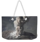 Eruption Of Ash Cloud From Santiaguito Weekender Tote Bag