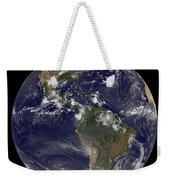 Full Earth Showing North America Weekender Tote Bag