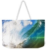 Glassy Breaking Wave Weekender Tote Bag