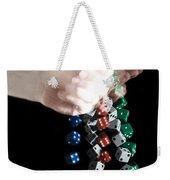 Hand Rolling Dice Weekender Tote Bag
