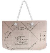 Horoscope Chart For Louis Xiv, 1661 Weekender Tote Bag