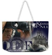 Illustration Of Crew Members Involved Weekender Tote Bag by Stocktrek Images