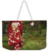 Kimono-clad Geisha In A Park Weekender Tote Bag