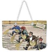 League Of Nations Cartoon Weekender Tote Bag by Granger