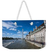 London Eye And County Hall Weekender Tote Bag