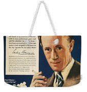 Lucky Strike Cigarette Ad Weekender Tote Bag by Granger