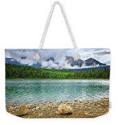 Mountain Lake In Jasper National Park Weekender Tote Bag by Elena Elisseeva