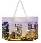 Night Scenes Of City Weekender Tote Bag by Setsiri Silapasuwanchai