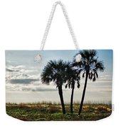 3 Palms On The Beach Weekender Tote Bag