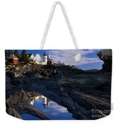 Pemaquid Point Lighthouse Weekender Tote Bag by Brian Jannsen