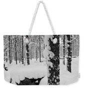 Pine Forest In January Weekender Tote Bag