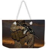 Portrait Of A U.s. Marine In Uniform Weekender Tote Bag by Terry Moore