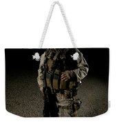 Portrait Of A U.s. Marine Weekender Tote Bag by Terry Moore