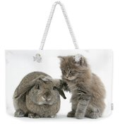 Rabbit And Kitten Weekender Tote Bag