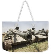 Russian T-54 And T-55 Main Battle Tanks Weekender Tote Bag