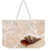 Seashell And Ocean Wave Weekender Tote Bag by Elena Elisseeva