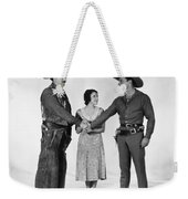Silent Film Still: Western Weekender Tote Bag