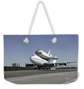 Space Shuttle Endeavour Mounted Weekender Tote Bag