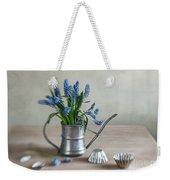 Still Life With Grape Hyacinths Weekender Tote Bag