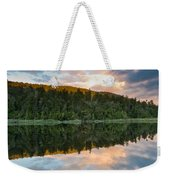 Sunrise Above A Lake On A Wind Still Morning Weekender Tote Bag