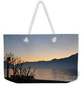 Sunset Over An Alpine Lake Weekender Tote Bag