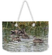 Teal Ducks Weekender Tote Bag