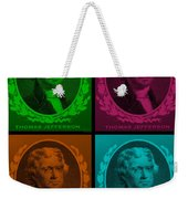 Thomas Jefferson In Quad Colors Weekender Tote Bag