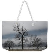 Trees With Fog Weekender Tote Bag