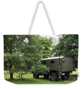 Unimog Truck Of The Belgian Army Weekender Tote Bag by Luc De Jaeger