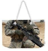U.s. Army Sergeant Provides Security Weekender Tote Bag