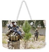 U.s. Army Soldier Stands Guard Weekender Tote Bag