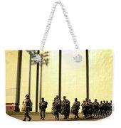 U.s. Army Soldiers Prepare To Board Weekender Tote Bag