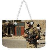U.s. Army Specialist Provides Security Weekender Tote Bag